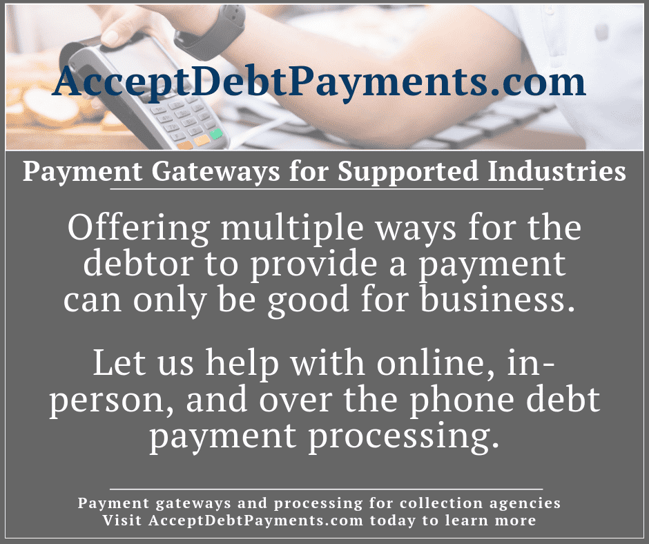 Payment Gateways & Supported Industries - Multiple payment options is good for business