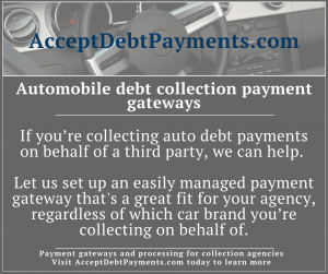 AcceptDebtPayments - Automobile debt collection Infographic